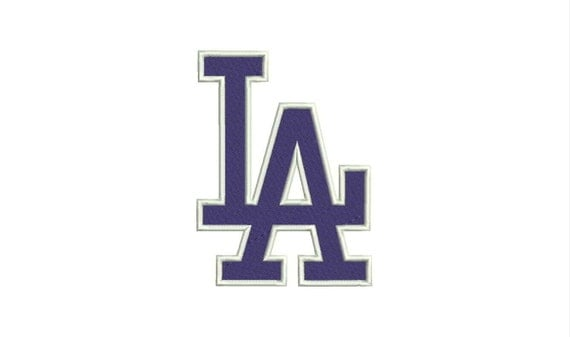 Los angeles dodgers logo machine embroidery designs by Logo designers los angeles