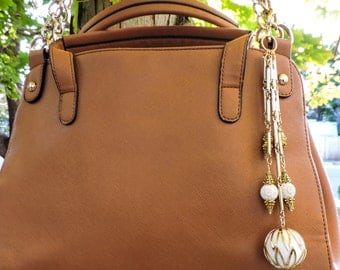 Vintage gold purse charm