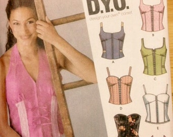 Simplicity 5113 - Design Your Own (D.Y.O.) Corset - Size 11 12 13 14 15 16