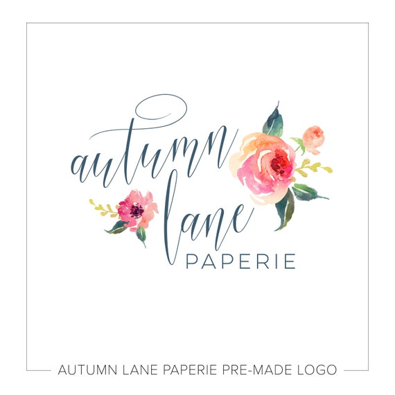 Customizable Floral Logo Customizable Name Photography