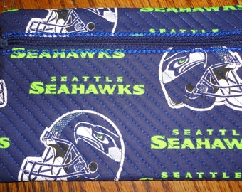 A Seattle Seahawk Cosmetic Bag