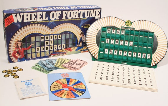 Vintage Wheel of Fortune Board Game 1985 1st Edition TV Show