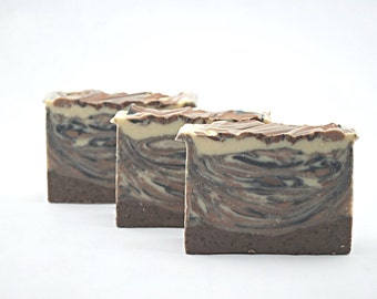 Coffee and Cream soap, handmade soap, cold process soap, vegan soap.