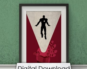 Marvel's The Avengers - Iron Man Inspired DIGITAL DOWNLOAD - Fan Art, Minimalist