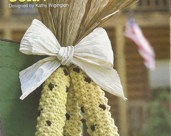Indian Corn Crochet Pattern Fall Harvest Decoration Home Decor P-299