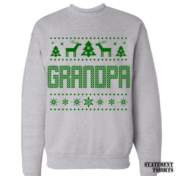 Grandpa Sweater. Ugly Sweatshirt. Sale. Christmas Gift for Grandfather. Jumper. Pullover. Merry Christmas. Gift for Grandparents.