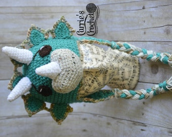 Crochet Triceratops Dinosaur Hat - Best Seller!