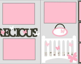 """Scrapbook 2 Page Layout """"Precious Girl"""""""