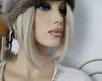 New!Natural,Real Noutria Fur HAT!!!