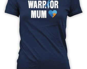 Warrior Mum - Autism Aware Shirt for Strong Proud Mothers, Autism Awareness, Autistic Gifts, Womens, Mens and Youth Size Shirts, Etsy CT-002