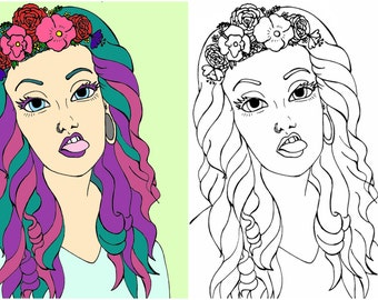 Custom Portrait Digital Drawing Art Print PDF