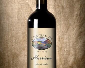 Vineyard - Wedding Wine Label - Custom Wine Label - Personalized Wine Label - Wedding Wine Bottle Label - Vineyard Wedding
