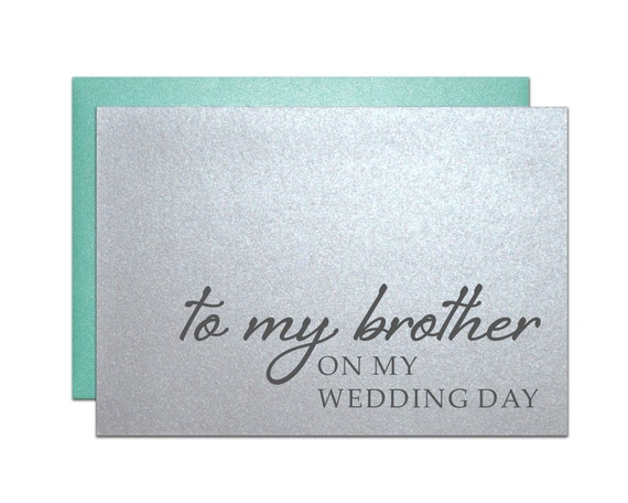 Wedding Thank You Gift For Brother : Thank you card to my brother on my wedding day from bride groom family ...
