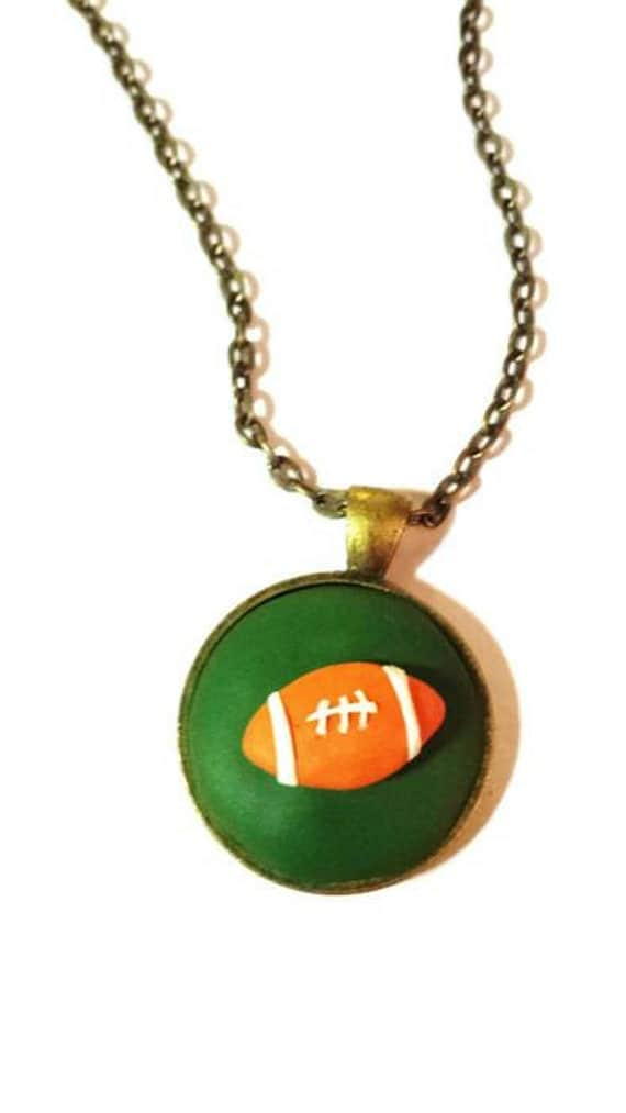 Football necklace christmas gift ideas for men gift for dad for Jewelry for mom for christmas