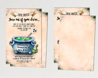 Printable Halloween Invitation, Halloween party invitation, Halloween potluck party invitation, potluck invitation