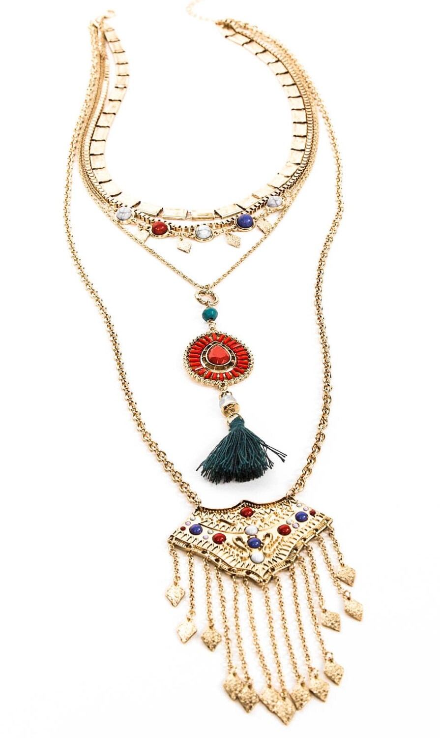 layered necklace necklace bohemian necklace tribal by