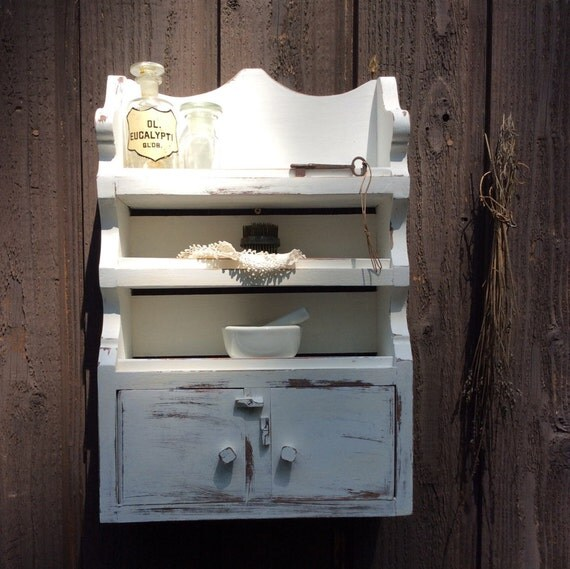 small wall cabinet white shabby but chic spice shelf knik