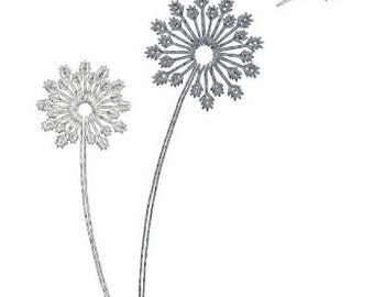 Embroidery Design Pattern File Instant Download - Dandelion Flower for Tote Bag, Pillow, Room Decor