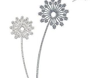 Embroidery Design Pattern File Instant Download - Dandelion Flower for Tote Bag, Pillow, Room Decor