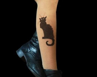 Chat Noir Cat tattoo tights
