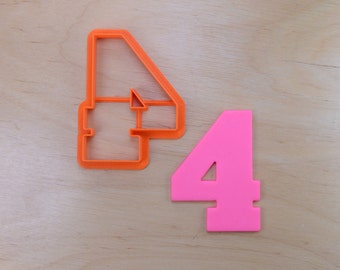 Classic Number Four Cookie Cutter