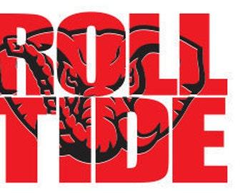 Roll Tide Knockout Font SVG File, Knockout SVG File, Svg For Silhouette, Svg For Cricut, Cricut Download