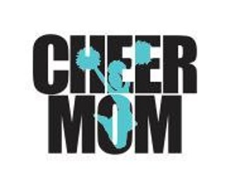 Cheer Mom Knockout Font SVG DXF SCAL Cricut Silhouette Sublimation File