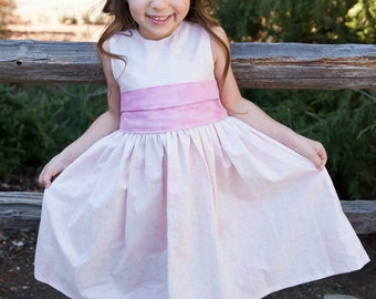 Girls Easter Dress - Flower Girl Dress - Girls Spring Dress - Girls Formal Dress - Girls Boutique Dress - Girls Bow Dress -  Easter Dress
