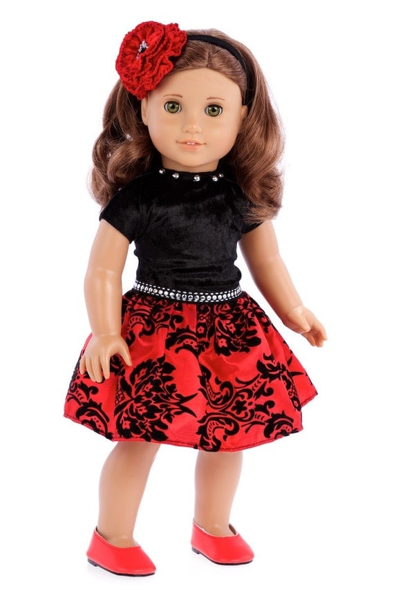 Holiday spirit doll clothes for 18 inch american girl doll holiday