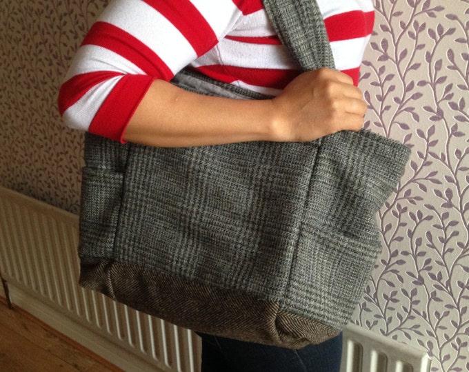 Ladies Shoulder Tweed Bag - Handmade - 100% Irish Tweed