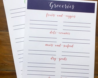 Grocery Notepad