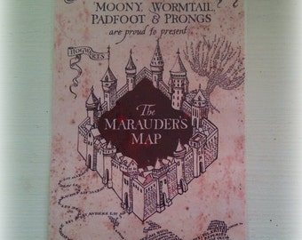 Harry Potter The Marauder's Map poster replica