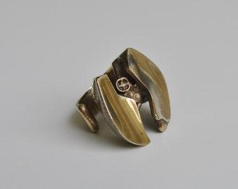 Björn Weckström Lapponia Finland Bronze Sculptural Ring 1970s