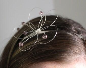 Purple Lily Wire Headband