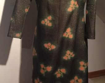70s Glitter Kaftan Maxi Dress