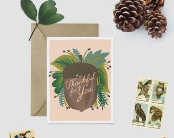I'm Thankful For You - Thanksgiving Card