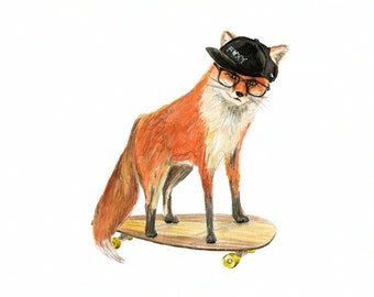 Skateboard wall art etsy for Decoration murale hipster