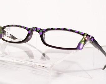 Wine Lover Hand Painted Reading Glasses. +1.25, Vintage, Modern, Slim