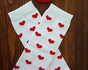 SALE Valentine Ruffle Leg Warmers w/ Matching Headband