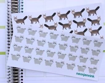 Maine Coon Cat Sticker Set