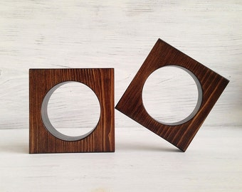 Wooden Bangles,Geometric Square Bangles,Conceptual Jewelry,Natural Wood,Fashion Bracelets
