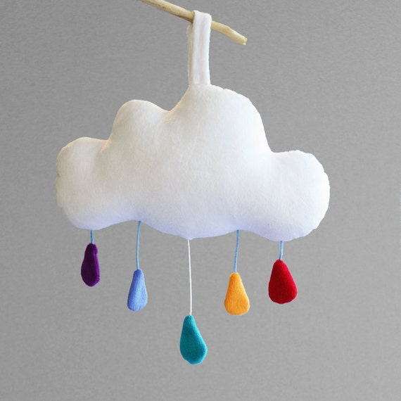 Cloud baby mobile crib mobile baby music box unique baby for Unusual baby mobiles