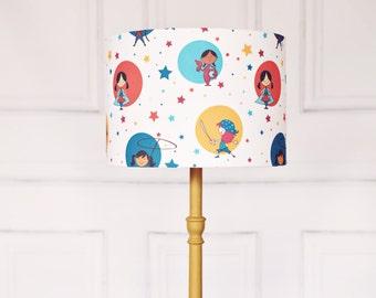 Nursery lighting, nursery lampshade, girls nursery, lampshade, handmade nursery, nursery lamp, kids lamp
