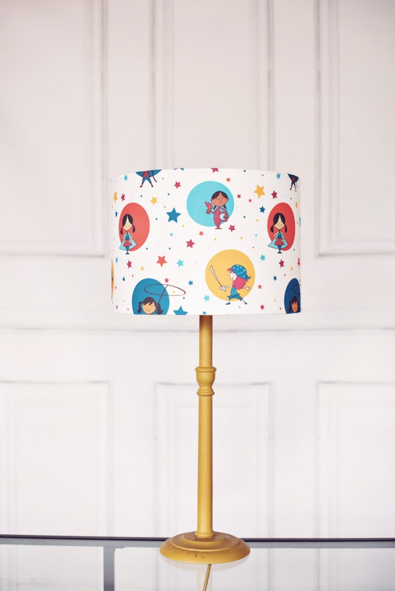 Nursery lighting nursery lampshade girls nursery lampshade for Girl nursery lighting