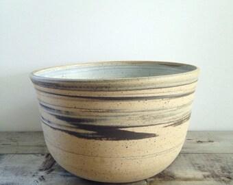 Marbled Stoneware Serving Bowl