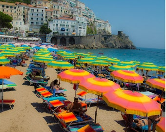 Beach Umbrellas Amalfi Coast