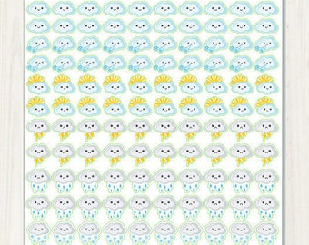 Cute Weather Stickers for your Erin Condren Planner, Plum Paper, Filofax, Scrapbook, Calendar, etc.