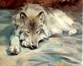 Wolf painting Oil painting original Oil on canvas Made to order
