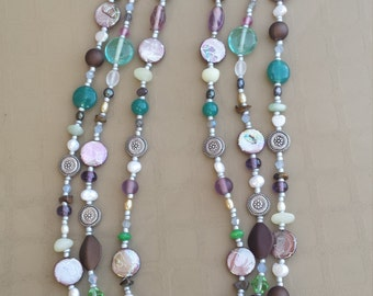 Colors of the Sea Multi-Stranded Beaded Necklace