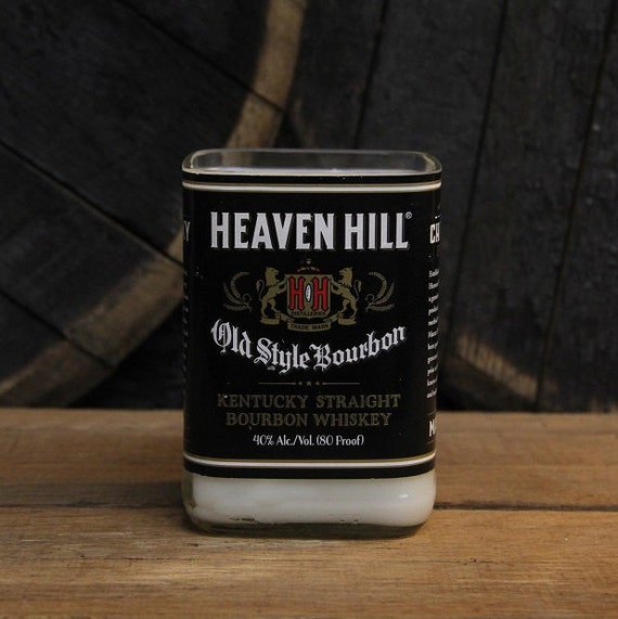 Heaven Hill Bourbon Candle Groom Gift, Anniversary Gift, Wedding Gift, Custom Recyled 750ml, 18oz Soy, Wax Bourbon Bottle Scented Candle
